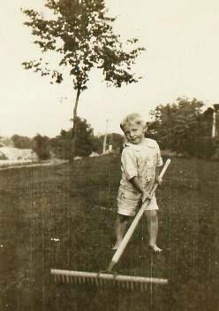 Big rake for a little guy!