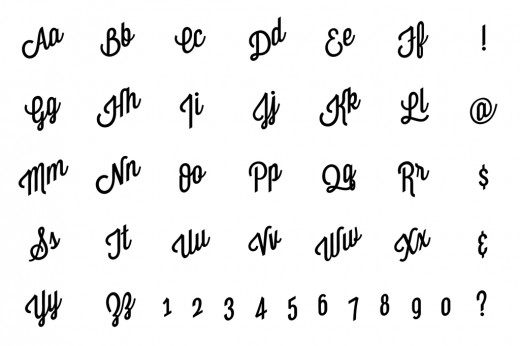 A font of mine called Wisdom Script.