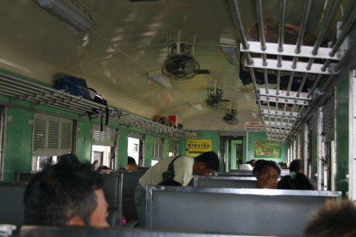 Inside the carriage