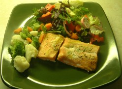 Baked Salmon with Dijon