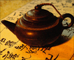 "Stategic fonts and photos of Chinese teapots imply the suppression of this ""natural"" cure by Western medicine."