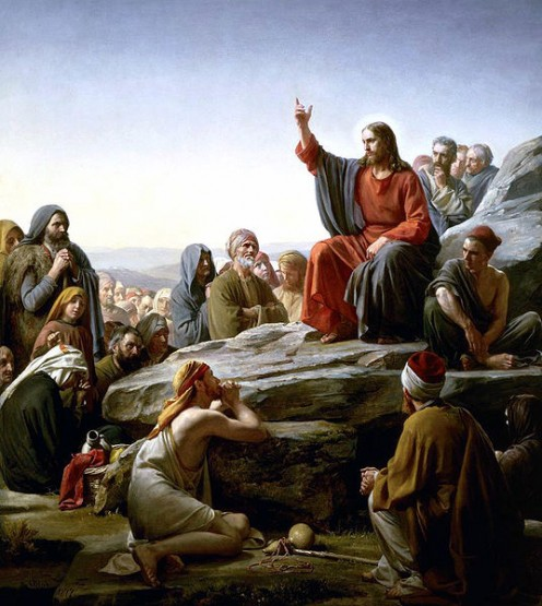 """Sermon on the Mount"" by Carl Heinrich Bloch (18341890)"