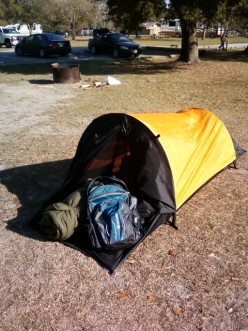 Coffin-sized solo tent may work for ultralight camping, but beware of claustrophobia