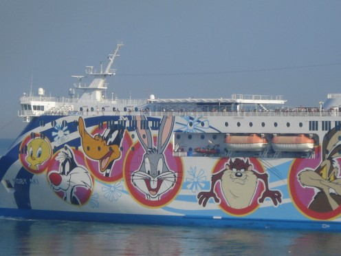 Moby Ferry in Livorno, Italy