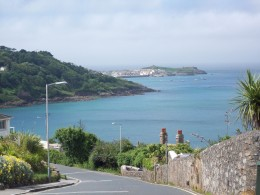View from road down to Carbis bay