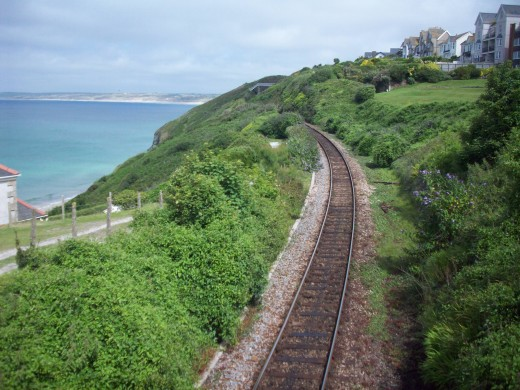 Train track down to St. Ives