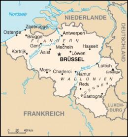 Map showing location of Redu, Belgium