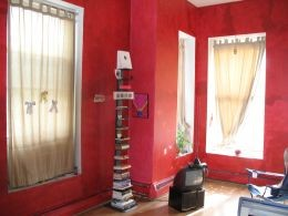 red in the living room
