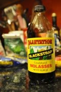 Blackstrap molasses in a bottle.   http://www.flickr.com/photos/traceychrisandbea/3345042259/