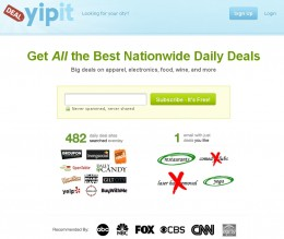 The YipIt Home Page. Deals aplenty.