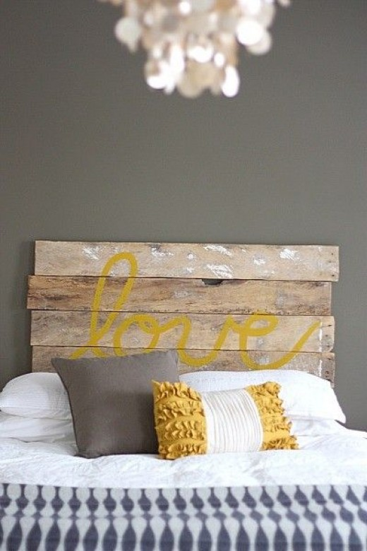 Crates used as a headboard