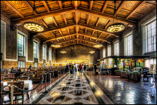 L.A. Union Station interior.