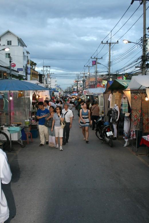 The Night Market at dusk