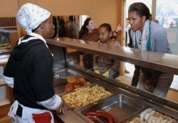 OBAMA AND KIDS AND DEEP FAT FRIED FOOD