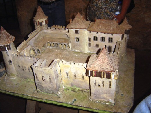 A model of how the chateau de Peyras would have looked