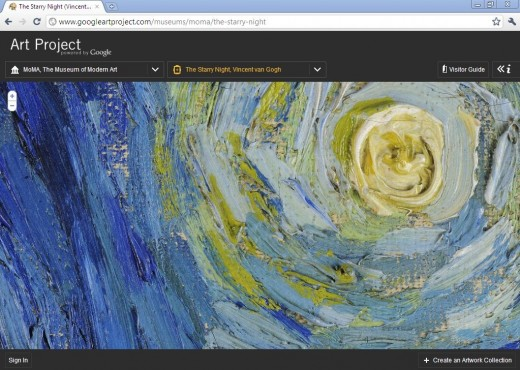 Google's Art Project brings 17 art museums from around the world to your computer screen; googleartproject.com