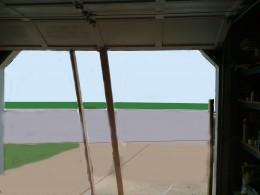 Fig 5. Propping garage door