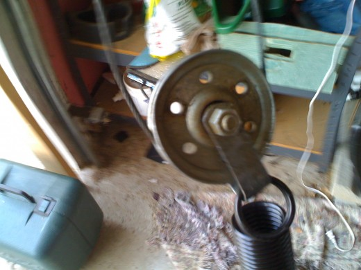 Fig 6.  Pulley wheel clip attached to spring loop.