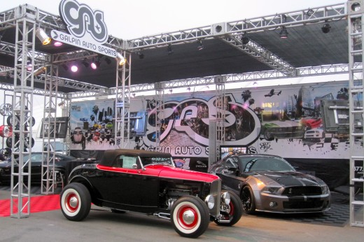 The Galpin Auto Sports display at the Barrett-Jackson Auto Auction in Orange County, CA.