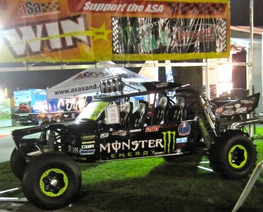 The Monster Energy Drink truck at the Barrett-Jackson Auto Auction in Orange County, CA.