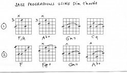 Guitar : jazz chords