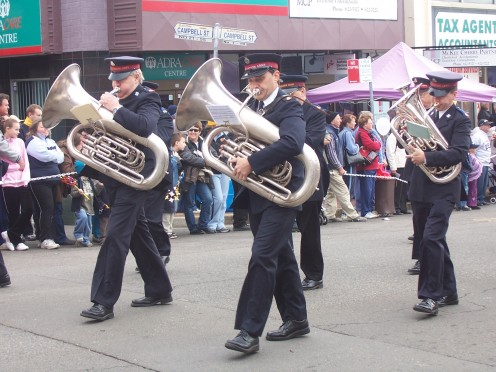 Tuba Players at Blacktown City Festival Parade