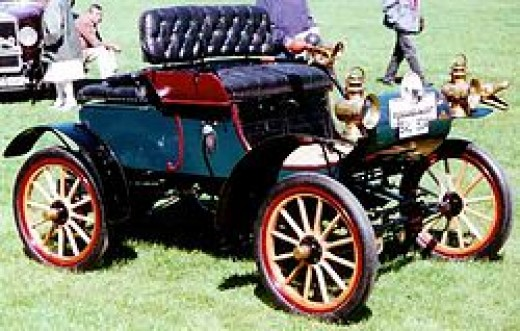 The first mass produced car in 1901 The Oldsmobile Curved Dash