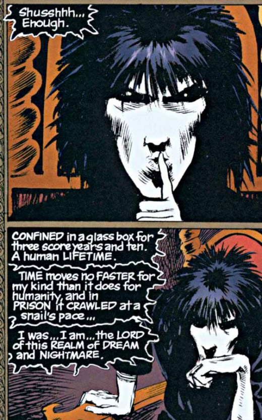 Figure 3 - Sandman panel, the words alone are artwork!