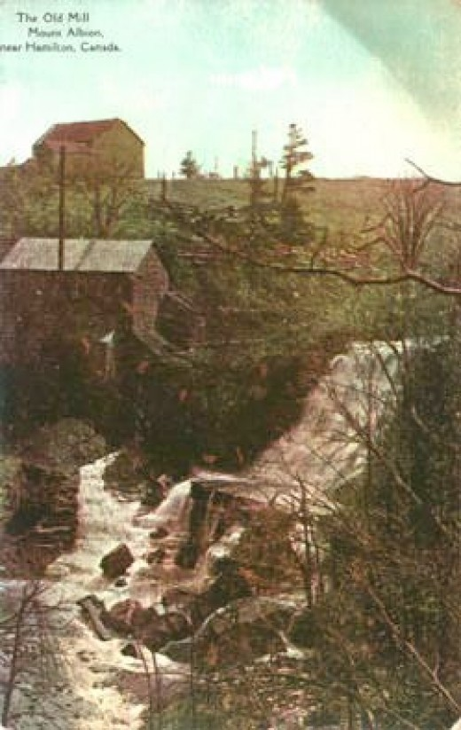 1906 Postcard calling this The Old Mill at Mount Albion. Now it is called Albion Falls.