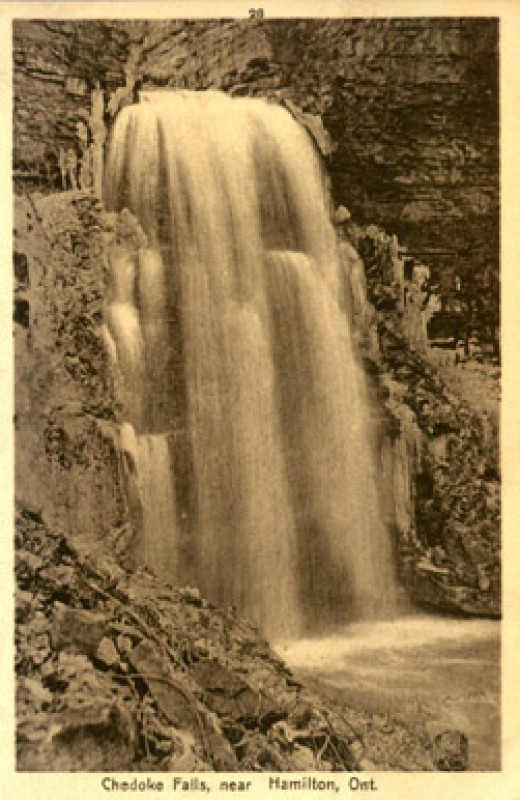 Early 1900's Postcard showing Chedoke Falls.