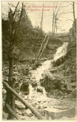 Vintage Postcard calling this Ravine Mountain Sanatorium. Now it is called Upper Sanatorium Falls.