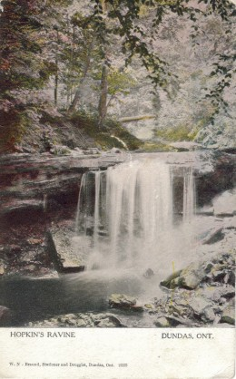 1906 Postcard calls this Hopkins Ravine. Now it is called Lower Tews Falls.