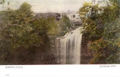 1907 Postcard of Borer's Falls.