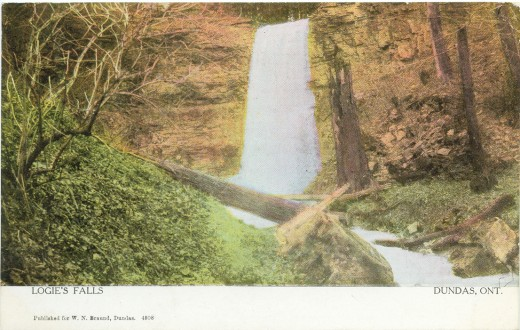 1910 Postcard calls this Logie's Falls. Now it is called Upper Sydenham Falls.