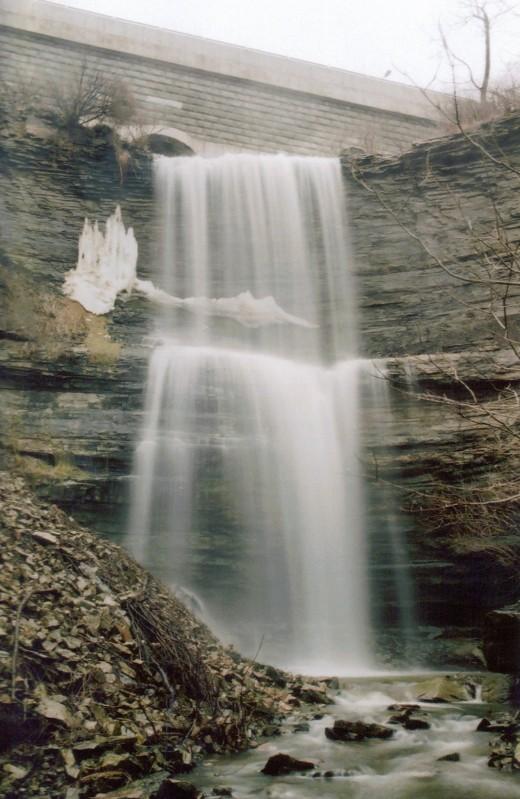 Buttermilk Falls as it looks today.