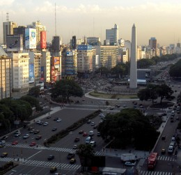 The Obelisco on Avenida 9 de Julio