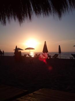 Sunset on the gay beach in Puerto Vallarta