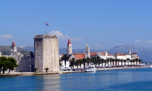 Kamerlengo Fortress guards Trogir harbor