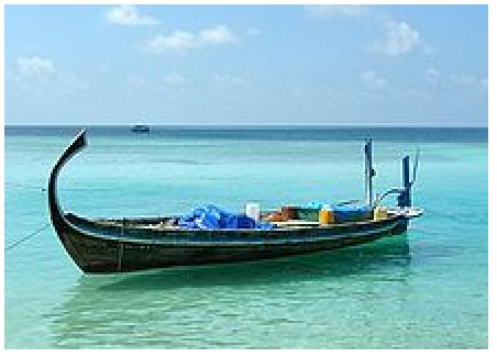 Dhoni or boat - only found in Maldives