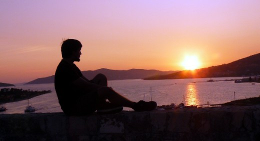 Sunset at Kamerlengo Fortress