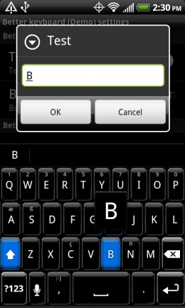 One of many skins and layouts available for Better Keyboard 8