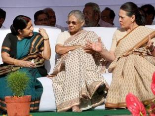 Sushma,leader of opposition,Sheila,Delhi chief minister and Congress leader Sonia