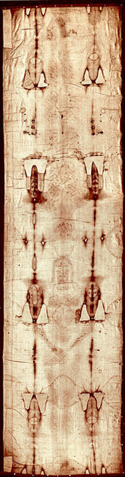 Full length image of the Turin Shroud