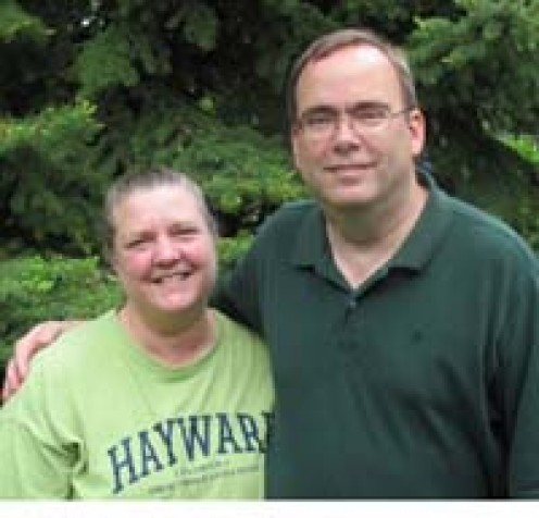Linda and Tom-Co-Captains for the 'Relay for Life' event.