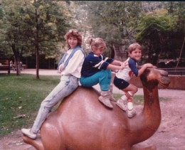 My sister at the zoo with my 2 oldest years ago.