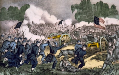 The battle of Gettysburg, Pa. July 3d. 1863; Currier and Ives