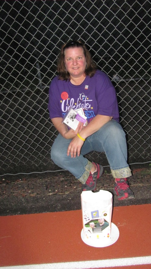 I had to pose near the luminary my family decorated in my honor.