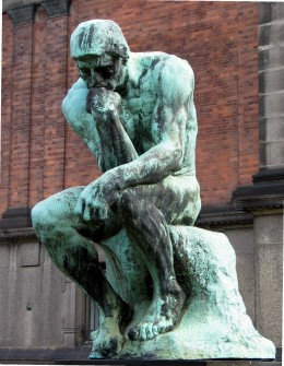 """The Thinker"" Auguste Rodin, modeled 1880-1881"