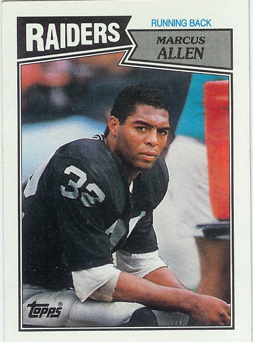Topps Card Los Angeles Raiders Marcus Allen