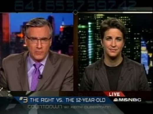 Keith Olbermann and Rachel Maddow